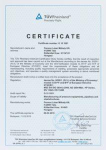 MSZ EN ISO 3834-2-2006